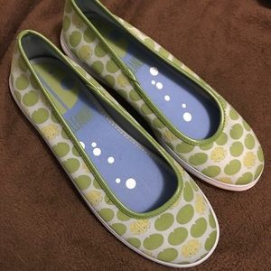 Keds Eleanor Frogs and Lily Pads Slip-on Flats